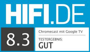 HIFI.DE Testsiegel für Der neue Chromecast mit Google TV im Test