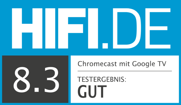 HIFI.DE Testsiegel für Google Chromecast