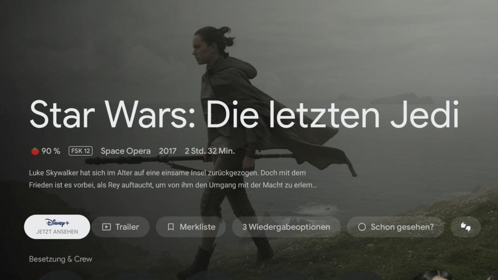Star Wars auf dem Chromecast
