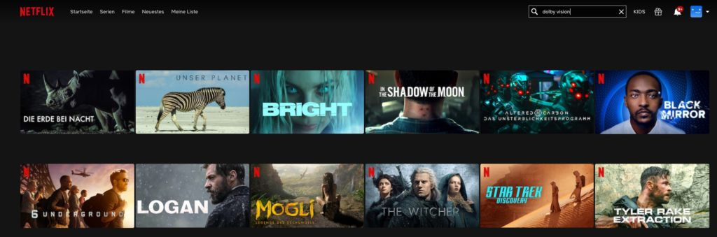 HDR und Dolby Vision auf Netflix