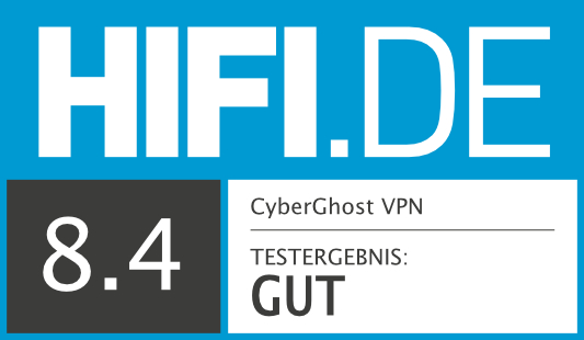 HIFI.DE Testsiegel für CyberGhost-VPN