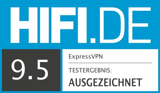 HIFI.DE Testsiegel für ExpressVPN