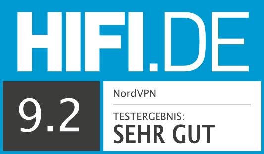 HIFI.DE Testsiegel für NordVPN