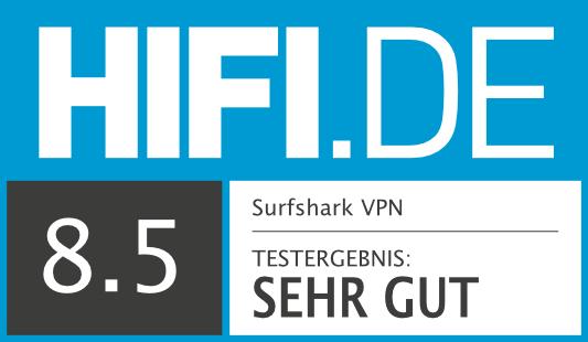 HIFI.DE Testsiegel für Surfshark VPN