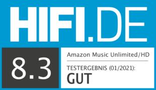 HIFI.DE Testsiegel für Amazon Music Unlimited im Test – Wie schneidet der Streaming-Dienst des Online-Riesen ab?