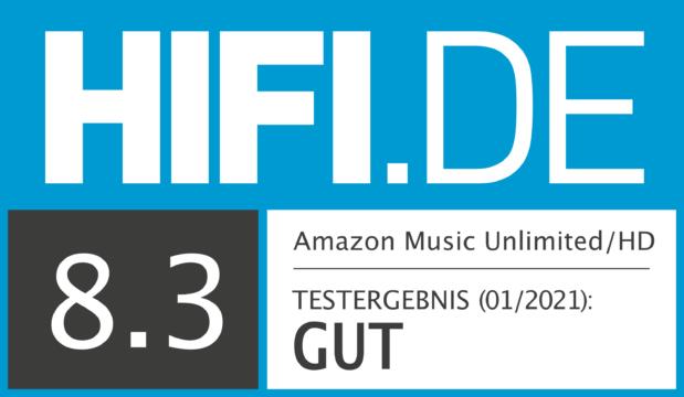 HIFI.DE Testsiegel für Amazon Music Unlimited/HD