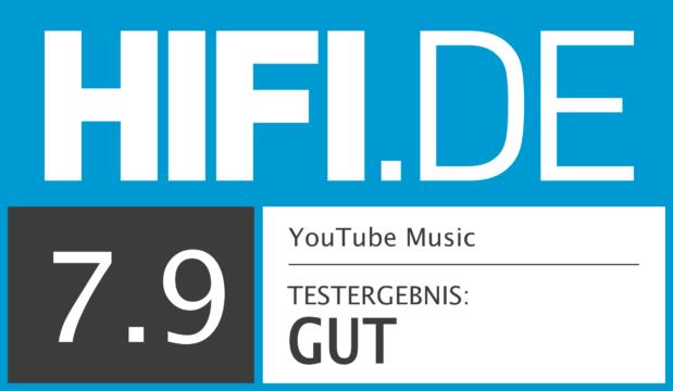 HIFI.DE Testsiegel für YouTube Music