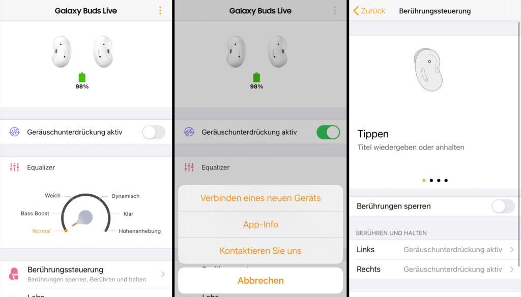 Die App zu den Samsung Galaxy Buds