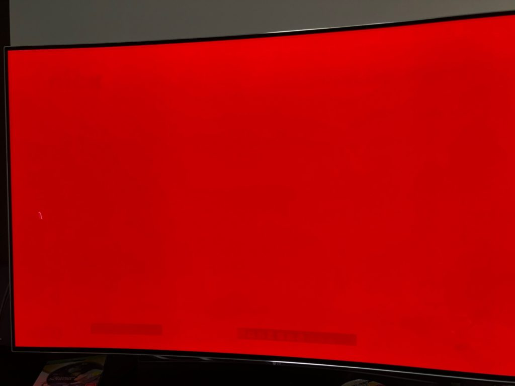 OLED Burn-In Beweis Einbrenn-Effekt