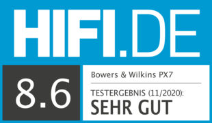 HIFI.DE Testsiegel für Bowers & Wilkins PX7