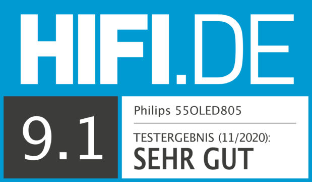HIFI.DE Testsiegel für Philips OLED 805