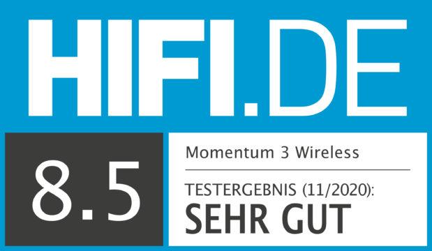 HIFI.DE Testsiegel für Sennheiser Momentum 3 Wireless