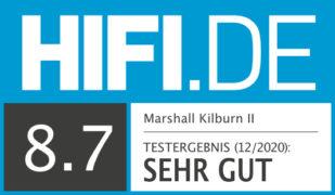 HIFI.DE Testsiegel für Marshall Kilburn II im Test – Bluetooth-Box in Rock'n'Roll-Optik