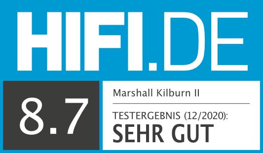 HIFI.DE Testsiegel für Marshall Kilburn II