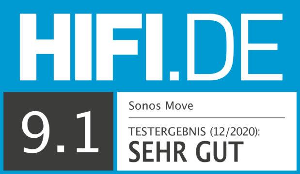 HIFI.DE Testsiegel für Sonos Move