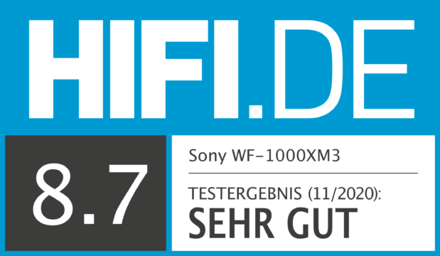 HIFI.DE Testsiegel für Sony WH-1000XM3