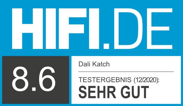 HIFI.DE Testsiegel für Dali Katch