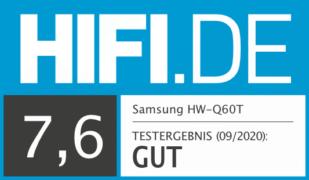HIFI.DE Testsiegel für Samsung HW-Q60T im Test: Soundbar nur für QLED-Besitzer?