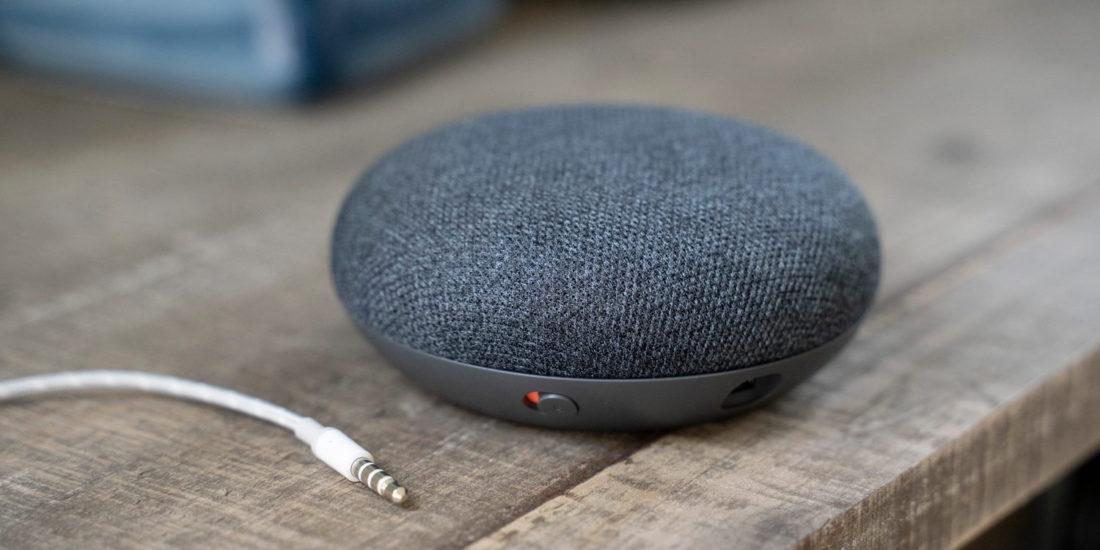 Nest Mini mit Googel Assistant Sprachassistenten