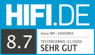 HIFI.DE Testsiegel für Sony WF-1000XM3 im Test: Besser als die AirPods Pro?