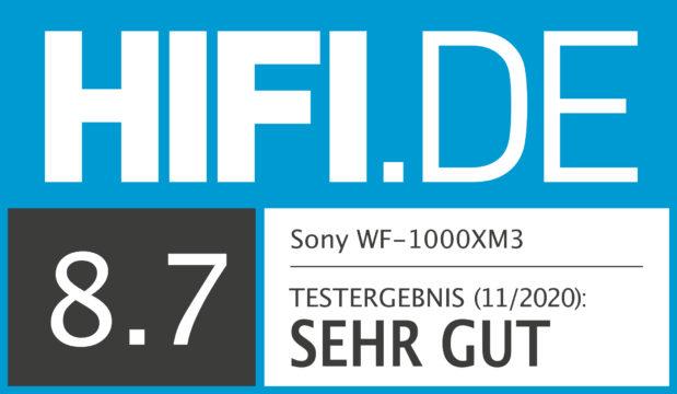 HIFI.DE Testsiegel für Sony WF-1000XM3