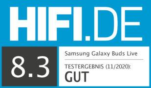 HIFI.DE Testsiegel für Samsung Galaxy Buds Live –die innovativen True Wireless Kopfhörer im Test