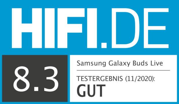 HIFI.DE Testsiegel für Samsung Galaxy Buds Live