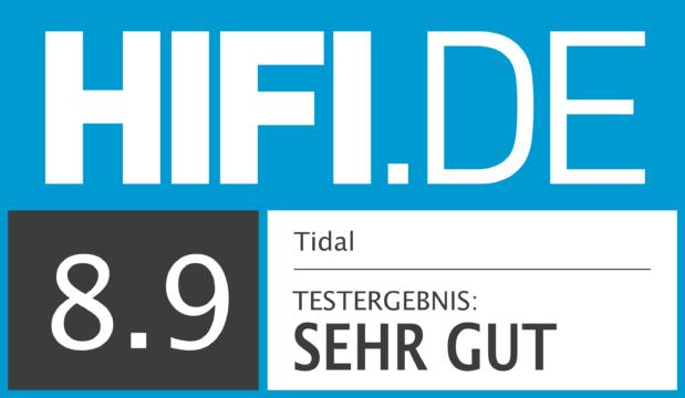 HIFI.DE Testsiegel für Tidal