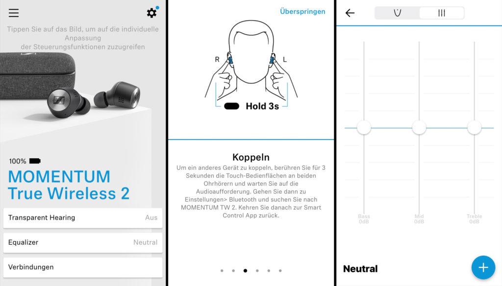 Die App der Sennheiser Momentum True Wireless 2
