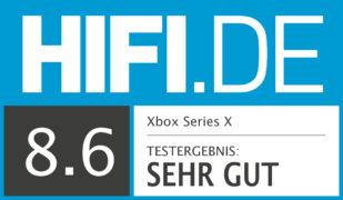 HIFI.DE Testsiegel für Xbox Series X im Test: Leisetreter mit massiver Leistung
