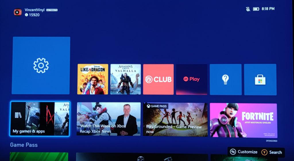 Das Dashboard der Xbox Series X ist nicht sehr intuitiv.