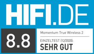 HIFI.DE Testsiegel-kopfhörer-sennheiser-momentum-true-wireless-2-8.8
