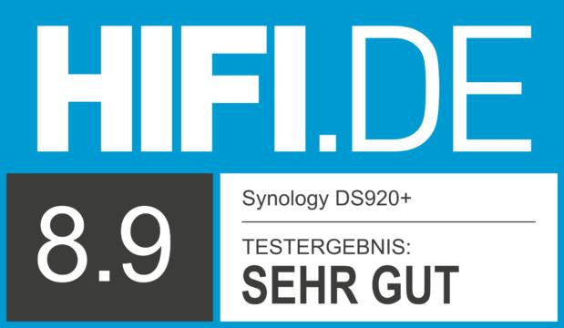 HIFI.DE Testsiegel für Synology DS920+
