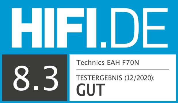 HIFI.DE Testsiegel für Technics EAH F70N