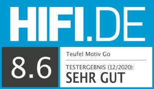 HIFI.DE Testsiegel für Teufel Motiv Go im Test: Großer Sound im Business-Look