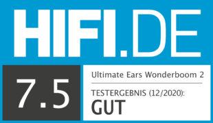 HIFI.DE Testsiegel für UE Wonderboom 2 im Test: Eine Handvoll Klangpower