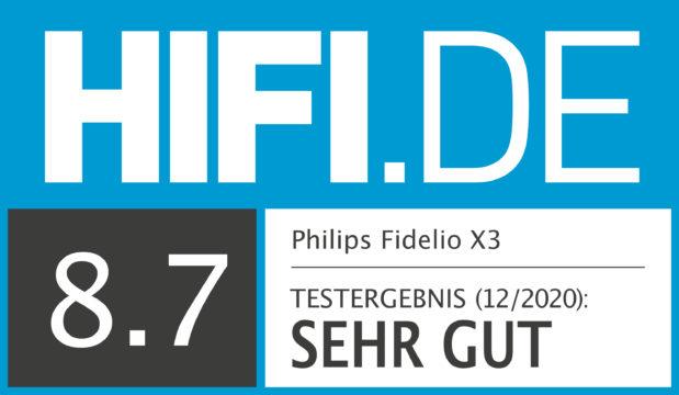 HIFI.DE Testsiegel für Philips Fidelio X3