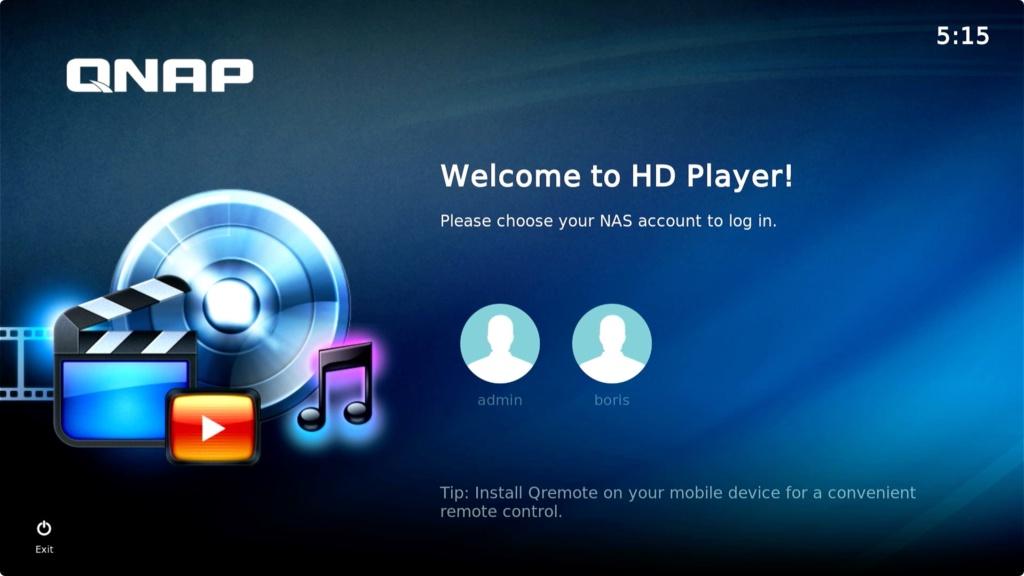 QNAP TS-251D HD Player