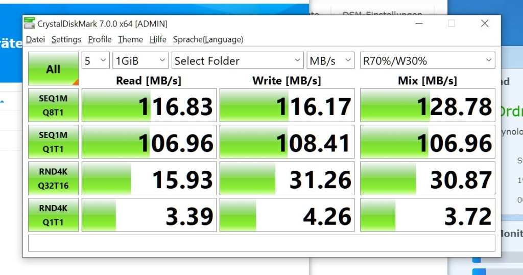 Synology DS220+ Benchmark
