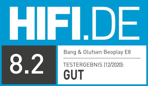 HIFI.DE Testsiegel für Bang & Olufsen Beoplay E8