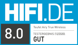 HIFI.DE Testsiegel für Teufel Airy True Wireless