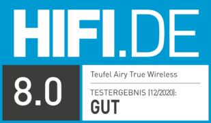 HIFI.DE Testsiegel für Teufel Airy True Wireless im Test: Die AirPods Alternative?
