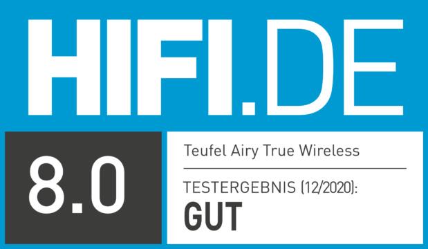 HIFI.DE Testsiegel für Teufel Airy True Wireless