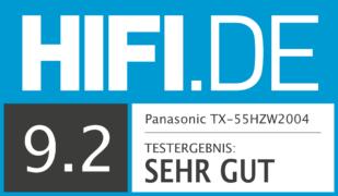 HIFI.DE Testsiegel für Panasonic HZW2004 Test: Bild und Ton auf Referenz-Niveau