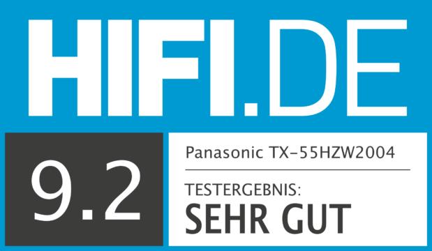 HIFI.DE Testsiegel für Panasonic TX-55 HZW2004