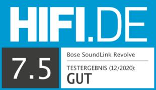 HIFI.DE Testsiegel für Bose SoundLink Revolve im Test: Was kann der 360°-Lautsprecher?