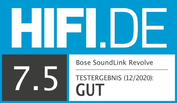 HIFI.DE Testsiegel für Bose SoundLink Revolve
