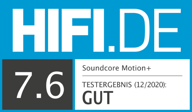 HIFI.DE Testsiegel für Anker Soundcore Motion+