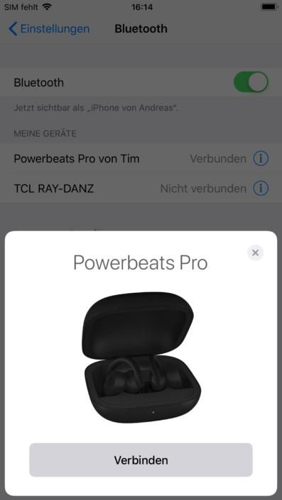 Powerbeats Pro iPhone Screenshot