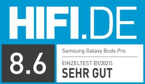 Testergebnis Samsung Galaxy Buds Pro: sehr gut
